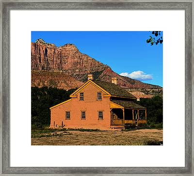 Grafton Utah 1866 Framed Print by David Lee Thompson