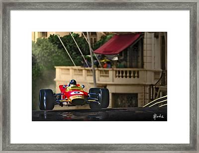 Graham's Monaco 1968 Framed Print by Craig Purdie
