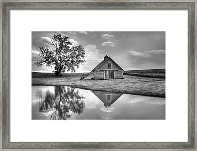Grain Barn - Lone Tree Framed Print by Nikolyn McDonald