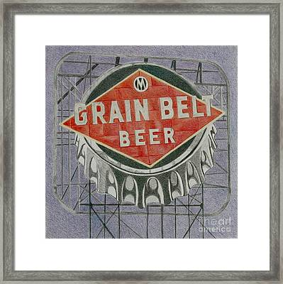 Grain Belt Beer Framed Print by Glenda Zuckerman