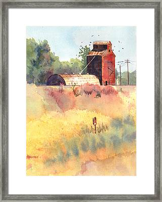 Grain Elevator Framed Print by Kris Parins