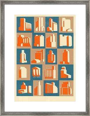 Grain Silos Framed Print by Eliza Southwood