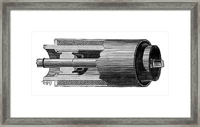 Gramme Dynamo Armature Framed Print by Science Photo Library
