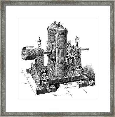 Gramme Dynamo Framed Print by Science Photo Library