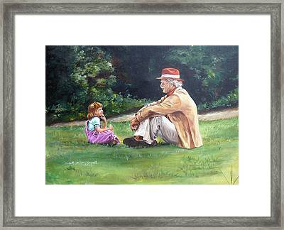 Grampa's Bible Stories Framed Print by Carole Powell