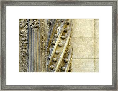 Granada Cathedral Doors And Other Details Framed Print by Guido Montanes Castillo
