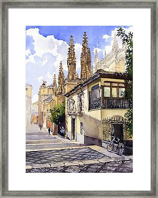 Granada Cathedral Framed Print by Margaret Merry