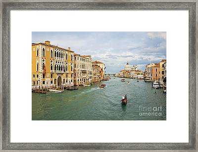 Grand Canal In Venice Italy Framed Print by Kiril Stanchev