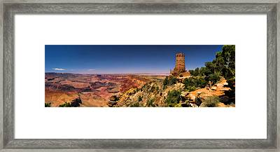 Grand Canyon Desert View Watchtower Panorama Framed Print by Christopher Arndt