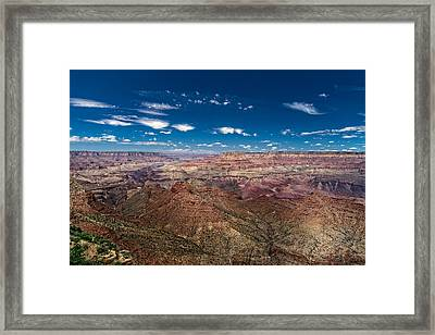 Grand Canyon From Desert View Watchtower Framed Print by Chris Bordeleau