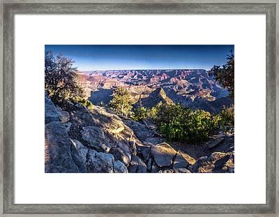 Grand Canyon Morning Framed Print by Daniel Hebard
