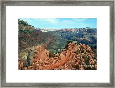 Grand Canyon National Park South Kaibab Trail Framed Print by Shawn O'Brien
