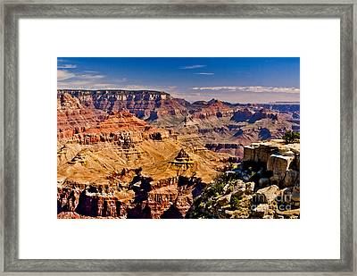 Grand Canyon Painting Framed Print by Bob and Nadine Johnston