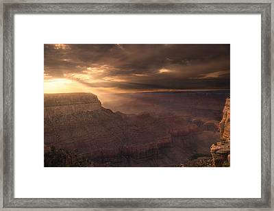 Grand Canyon Red Sunset Framed Print by Chris Bordeleau