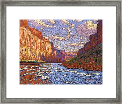 Grand Canyon Riffle Framed Print by Bryan Allen