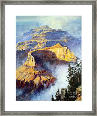 Grand Canyon View Framed Print by Lee Piper