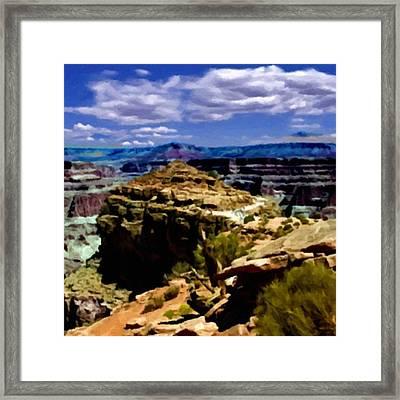 Grand Canyon West Rim Hualapai Nation Framed Print by Bob and Nadine Johnston
