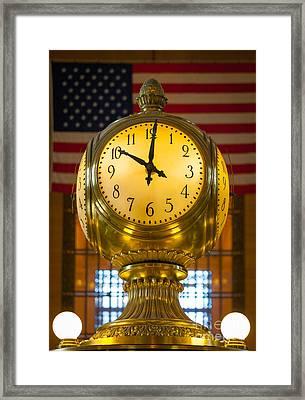 Grand Central Clock Framed Print by Inge Johnsson