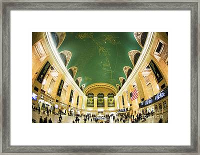 Grand Central Station New York City On Its Centennnial  Framed Print by Diane Diederich