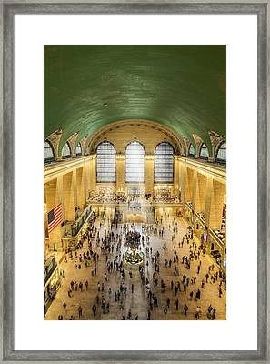 Grand Central Terminal Birds Eye View Framed Print by Susan Candelario