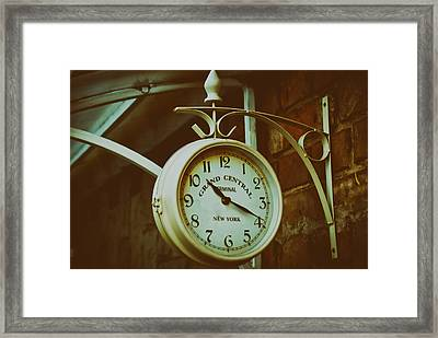 Grand Central Terminal Clock In Kiev Framed Print by Mountain Dreams