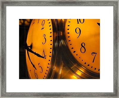 Grand Central Terminal Clock Framed Print by Jon Woodhams