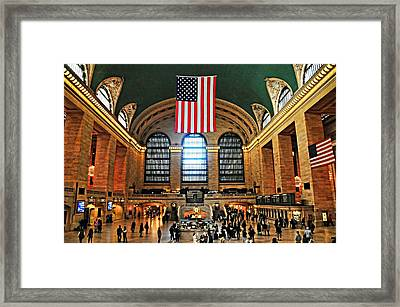 Grand Central Terminal Concourse Framed Print by Diana Angstadt
