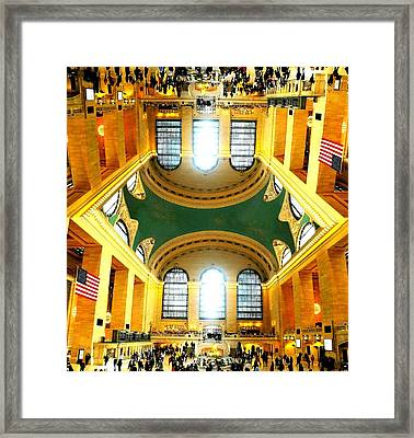 Grand Central Terminal Doubled Framed Print by Diana Angstadt