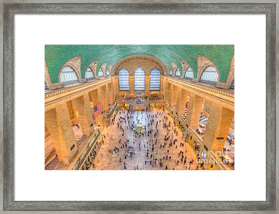 Grand Central Terminal Main Concourse I Framed Print by Clarence Holmes