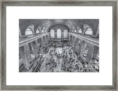 Grand Central Terminal Main Concourse II Framed Print by Clarence Holmes