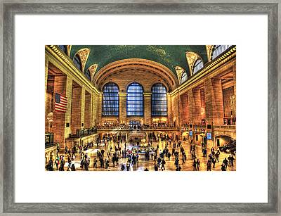 Grand Central Terminal Framed Print by Randy Aveille
