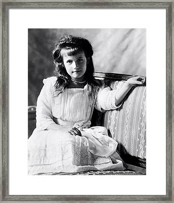 Grand Duchess Anastasia Nikolaevnav 1909 Framed Print by Mountain Dreams