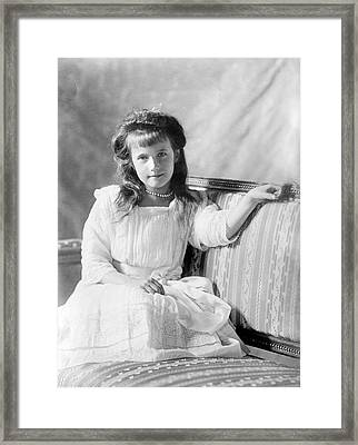 Grand Duchess Anastasia Of Russia Framed Print by Library Of Congress