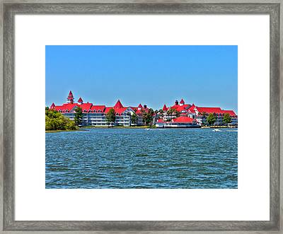 Grand Floridian Resort And Spa Framed Print by Thomas Woolworth
