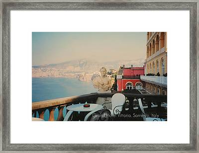 Grand Hotel Vittoria Framed Print by Diana Angstadt