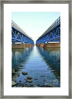 Grand Island Bridges Framed Print by Kathleen Struckle