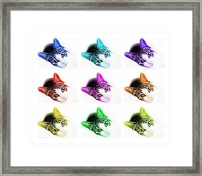 Grand Kitty Cuteness 3 Pop Art 9 Framed Print by Andee Design