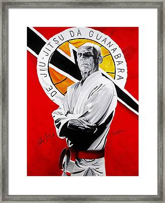 Grand Master Helio Gracie Framed Print by Brian Broadway