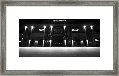 Grand Ole Opry At Night Framed Print by Dan Sproul