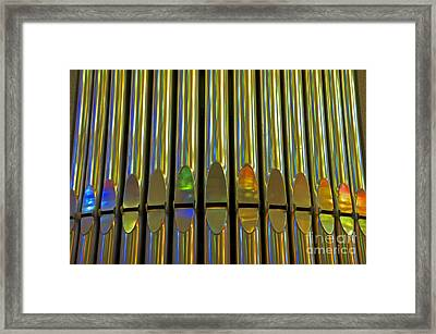 Grand Pipe Organ Reflections Framed Print by Cindy Lee Longhini