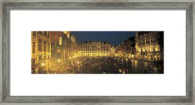 Grand Place Brussels Belgium Framed Print by Panoramic Images