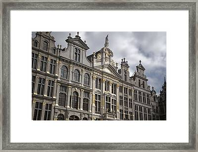 Grand Place Detail Framed Print by Joan Carroll
