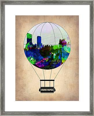 Grand Rapids Air Balloon Framed Print by Naxart Studio