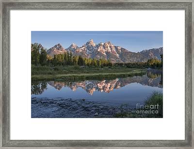 Grand Teton Awakening Framed Print by Sandra Bronstein