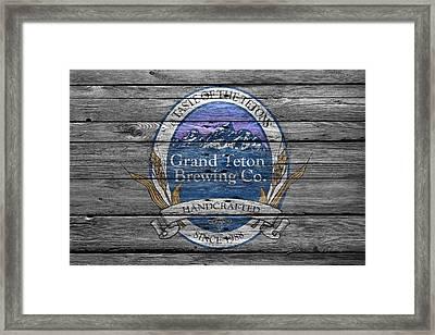 Grand Teton Brewing Framed Print by Joe Hamilton