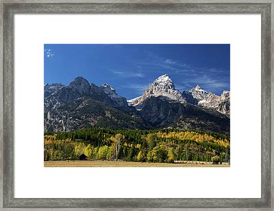 Grand Teton  Elevation 13770 Feet Framed Print by Ronald Phillips