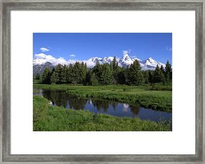 Grand Teton Reflection Framed Print by Brian Harig