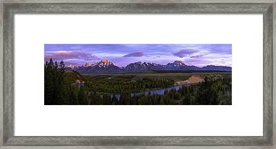 Grand Tetons Framed Print by Chad Dutson