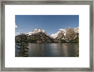 Grand Tetons On Jenny Lake 2 - Grand Teton National Park Wyoming Framed Print by Brian Harig