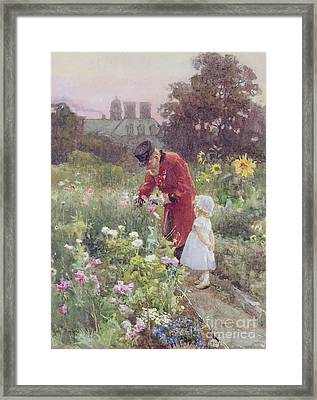 Grandads Garden Framed Print by Rose Maynard Barton